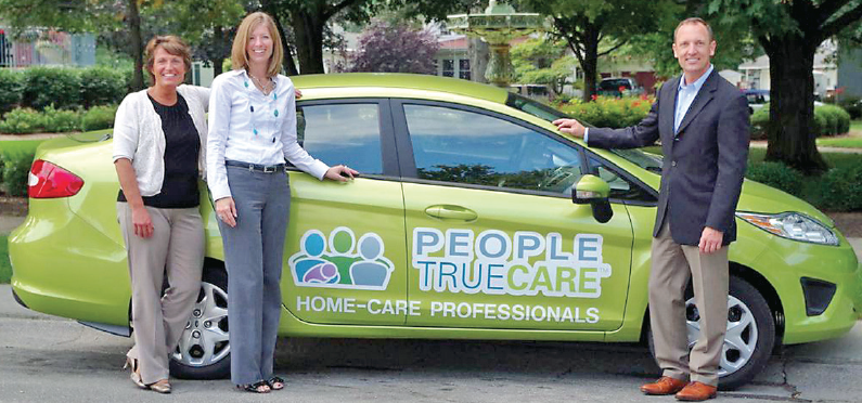 Lime green car fleet helps seniors and families